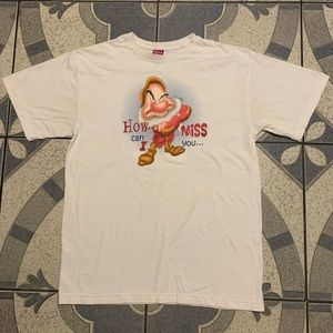 Vintage Disney Grumpy Double-Sided Graphic Tee L